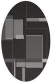 rug #1187603 | oval red-orange geometry rug