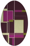 rug #1187627 | oval purple rug