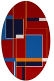 rug #1187639 | oval red abstract rug