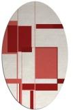rug #1187650 | oval graphic rug
