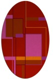 rug #1187651 | oval red abstract rug