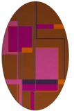 rug #1187663 | oval red-orange graphic rug