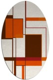 rug #1187667 | oval red-orange geometry rug