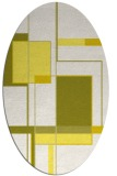 rug #1187675 | oval white graphic rug