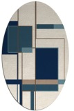 rug #1187691 | oval white graphic rug