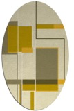 rug #1187699   oval yellow graphic rug