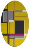 rug #1187707   oval yellow abstract rug