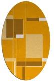 rug #1187735 | oval light-orange rug