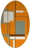 rug #1187743   oval light-orange abstract rug