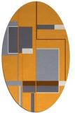 rug #1187747   oval light-orange abstract rug