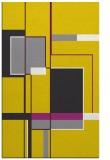 rug #1188075 |  yellow geometry rug