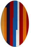 rug #1191323 | oval red rug