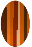 rug #1191343 | oval red-orange graphic rug