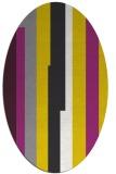 rug #1191391 | oval white stripes rug