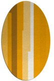 rug #1191419 | oval light-orange stripes rug