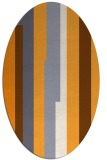 rug #1191427 | oval light-orange rug