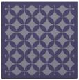rug #119233   square blue-violet circles rug