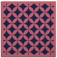 rug #119237 | square blue-violet geometry rug