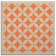 rug #119341 | square orange borders rug