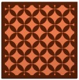 rug #119345 | square red-orange circles rug