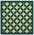 rug #119349 | square blue-green borders rug