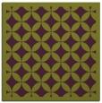 rug #119373 | square purple circles rug