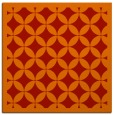rug #119389 | square orange circles rug