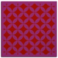 rug #119397 | square red traditional rug