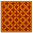 rug #119401 | square red-orange traditional rug