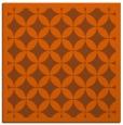 rug #119409 | square red-orange circles rug