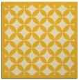 rug #119433 | square yellow circles rug