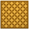 rug #119449 | square yellow circles rug