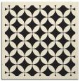 rug #119453 | square black circles rug