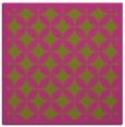 rug #119473 | square light-green circles rug