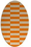 rug #1194743 | oval orange check rug