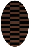 rug #1194759 | oval brown graphic rug