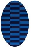 rug #1194775   oval blue check rug
