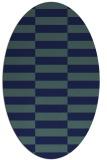 rug #1194784 | oval check rug