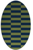rug #1194787 | oval blue graphic rug