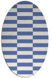 rug #1194791 | oval blue check rug