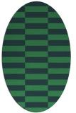 rug #1194810 | oval check rug