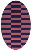 rug #1194835 | oval blue-violet check rug
