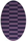 rug #1194839 | oval purple check rug