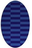 rug #1194843 | oval blue-violet check rug
