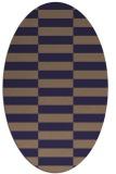 rug #1194847 | oval blue-violet check rug