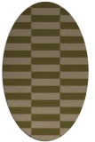 rug #1194855 | oval brown rug