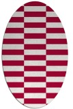 rug #1194859 | oval red check rug