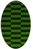 rug #1194887 | oval light-green check rug