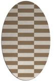 rug #1194903 | oval beige check rug