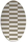 rug #1194907 | oval white check rug